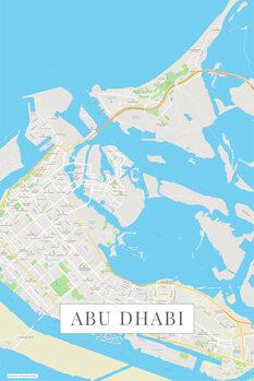 Mapa Abu Dhabi color
