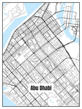 Kaart van Abu Dhabi