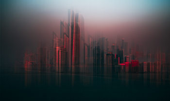 Photographie d'art Abu Dhabi skyline