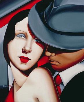 Adam & Eve, Gangster Study Kunstdruck