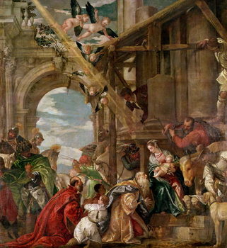 Konsttryck Adoration of the Kings, 1573