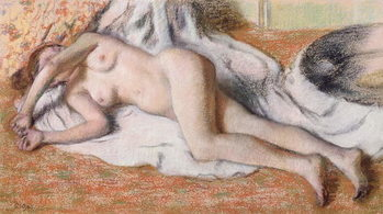 Obrazová reprodukce  After the Bath or, Reclining Nude, c.1885