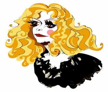 Obrazová reprodukce Alison Goldfrapp, English pop singer, colour caricature