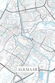 Mapa Alkmaar white