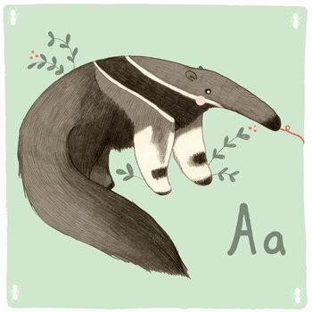 Ilustracja Alphabet - Anteater
