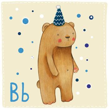 Ilustracja Alphabet - Bear