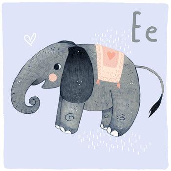 Ilustracja Alphabet - Elephant