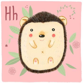 Ilustracja Alphabet - Hedgehog