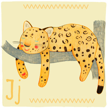 Ilustracja Alphabet - Jaguar