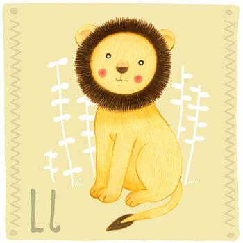Ilustracja Alphabet - Lion