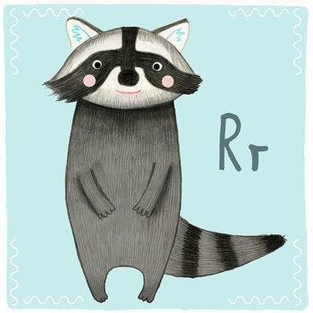 Ilustracja Alphabet - Racoon