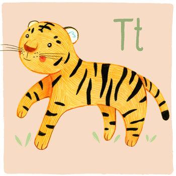 Ilustracja Alphabet - Tiger