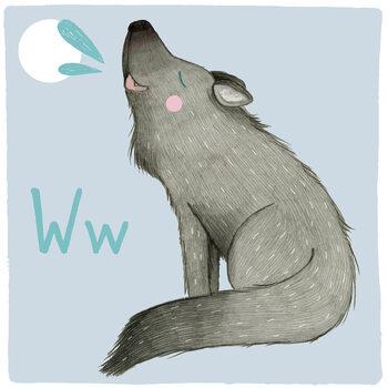 Ilustracja Alphabet - Wolf