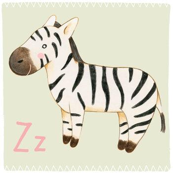 Ilustracja Alphabet - Zebra