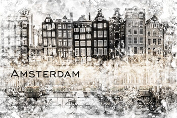 Ilustrace AMSTERDAM Collage