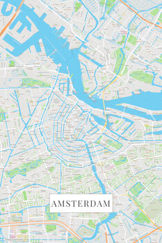 Mapa Amsterdam color
