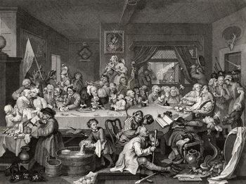 Reprodukcja An Election Entertainment, engraved by T.E. Nicholson,