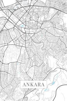 Mapa Ankara white