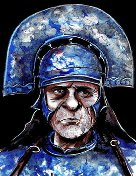 Obrazová reprodukce Anthony Hopkins as Titus Andronicus-  colour caricature