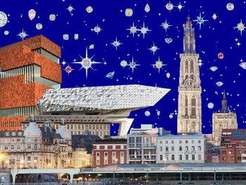 Artă imprimată Antwerp by night, 2018, screenprint