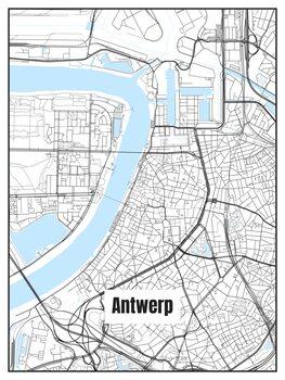 Mapa Antwerp