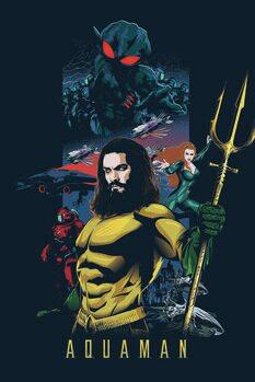 Poster de artă Aquaman - Erou de mare