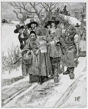 Artă imprimată Arresting a Witch, engraved by J. Bernstrom