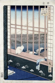 Asakusa Rice Fields during the festival of the Cock from the series 'Meisho Edo Hyakkei' (One Hundred Views of Edo) 1861 Kunstdruck