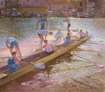 At the Raft, Henley, 1993 Kunstdruck