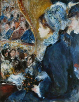 At the Theatre (La Premiere Sortie), 1876-7 Kunsttryk