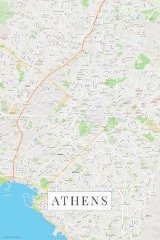 Harta Athens color