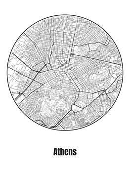 Mapa Athens