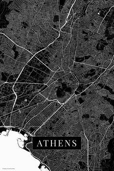 Mapa Athens_black