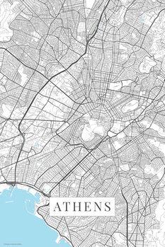 Mapa Athens_white