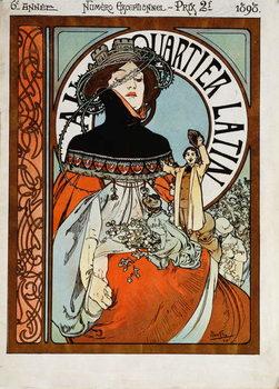 Εκτύπωση έργου τέχνης Au Quartier Latin, 1898