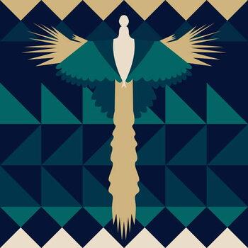 Kunstdruk Aztec Peacock
