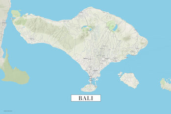 Mapa Bali color