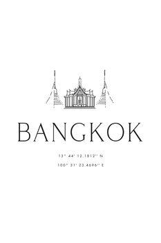 Ilustrace Bangkok coordinates with temple
