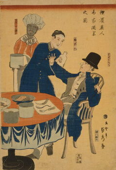 Reproduction de Tableau Banquet at a foreign mercantile house in Yokohama