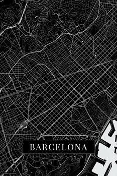 Mapa Barcelona black
