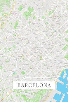 Mappa Barcelona color