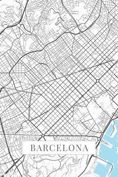 Mapa Barcelona white