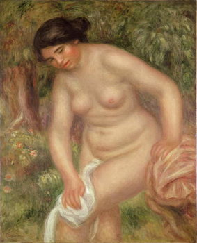 Reproducción de arte Bather drying herself, 1895