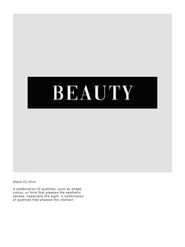 Illustration Beauty definition