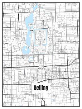 Mapa Beijing