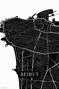 Stadtkarte Beirut black