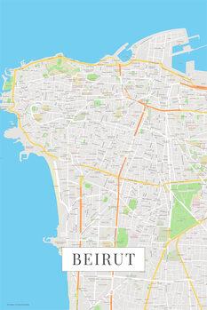 Stadtkarte Beirut color