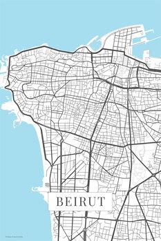 Stadtkarte Beirut white