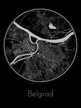 Mapa Belgrad