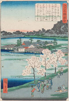Kunsttrykk Benten Shrine on Shinobazu Pond , 19th century